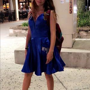 Like New Size 2 Royal Blue Dress with Pockets